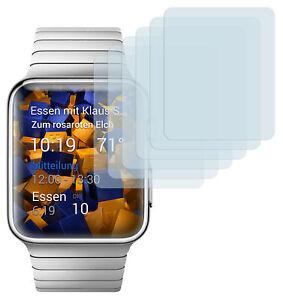 mumbi 6x Folie für Apple Watch 38mm  (Series 1 / Series 2) Schutzfolie klar