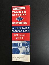 Los Angeles, Ca Gray Line Tours Tanner Gray Line Sightseeing Brochure 1950's