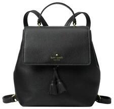 Kate Spade Hayes Medium Backpack Pebbled Leather Black / Pink $358 New