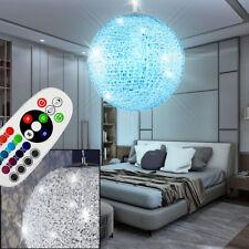 LED Decken Hänge Lüster Leuchte Chrom Kugel Lampe 40cm RGB dimmbar FERNBEDIENUNG