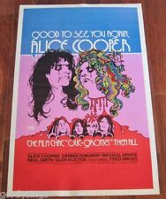 Alice Cooper GOOD TO SEE YOU AGAIN 1974 FULL-SIZE THEATER LOBBY POSTER 100% NEW