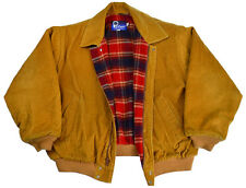 Vtg Penfield Jacket XL Mens Coat Wool Plaid Lined Corduroy Harrington Zip USA