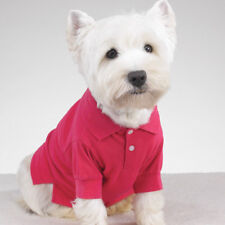 Casual Canine Preppy Puppy Polo Shirt  Clothes For Dog Pet Puppy Pink XS