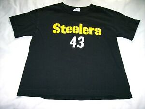 Pittsburgh Steelers Troy Polamalu Black Player Shirt Youth Kids Small