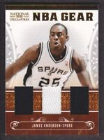 2010-11 National Treasures NBA Gear Trios Jersey #29 James Anderson /99 Spurs