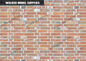 1:6 scale Brick wall - A4 Vinyl decal sheets / diorama model 23