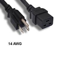 Kentek 8Ft NEMA 5-15P to IEC-60320 C19 Power Cable 14AWG 15A Server PDU UL cUL