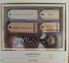 New Wood Gift Tag Tags Topper Holiday Set Hearth & Hand Magnolia Farmhouse