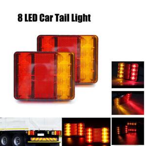 Pair 12V Car Rear LED Lights Tail Indicator Lamp Trailer Truck Caravan Car UK