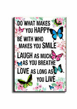 Do what makes you HAPPY SIGN. SMILE, LAUGH, LOVE, LIVE wooden plaque