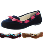 Restricted Chuckle Velvet Women's Sherpa Slippers Shoes Flats