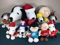 Peanuts Snoopy Plush Stuffed Animal Lot Charlie Brown Lucy Kohls Metlife