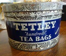 """Tetley """"Hundreds"""" Tea Bags with Tags Tin Orange Pekoe & Pekoe Cut Black Tea"""