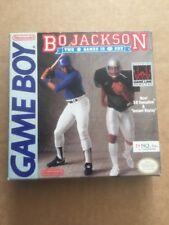 Game Boy Bo Jackson dos juegos en uno en caja con instrucciones gwo