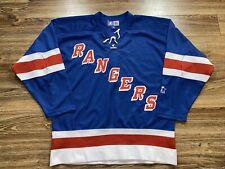 Vintage New York Rangers Sewn Blue 90s Starters NHL Hockey Jersey Size Medium