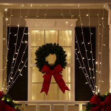 Soft Twinkle Curtain String Lights Pulsing LED White Home Wedding Party Lights