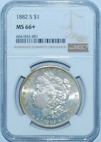 1882 S NGC MS66+ Morgan Silver Dollar