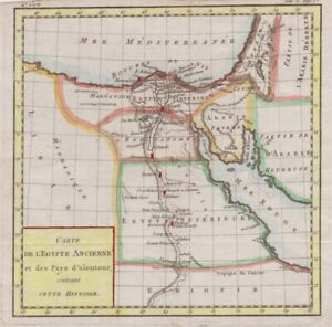 1788 Nice Brion de la Tour Map of Egypt