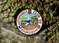 OLDTIMER EMAILLE AUTO PLAKETTE # AUTOMOBILE CLUB BOURGOGNE FRANCE FRANKREICH