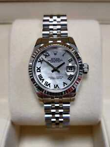 Rolex Lady-Datejust 179174 26mm Silver Mother of Pearl Dial 2006 (78)