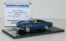 MINIMARQUE 1/43 GRB108A - MGB MKIII 3 - ROOF OPEN - TEAL BLUE