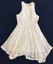 Abercrombie Kids Ivory Lace Tank Dress With Handkerchief Hem Sz M (12) EUC