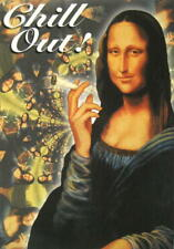 CANNABIS MARIHUANA MARIJUANA POSTKARTE POSTCARD # 4 CHILL OUT MONA LISA