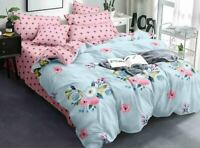 Multi Color Floral Print Cotton Comforter 1 Double Bed Sheet And 2 Pillow Covers