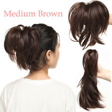 """Clip In Hair Extensions 12"""" Jaw Claw On Pony Tail Real As Human Hair Braid KD2"""