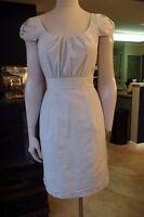 J Crew Gray Cap Sleeve Cotton/Silk Classic Sheath Dress 4