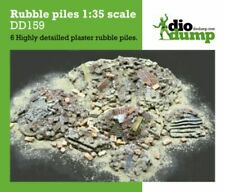 DioDump DD159 Rubble piles - 1:35 scale  6 diorama debris scenery pieces