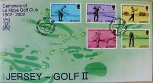 """Jersey Stamps: Jersey """"Golf II"""" - First Day Cover 2002"""