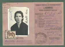 Storia postale Repubblica. TESSERA RICONOSCIMENTO POSTALE del 1962