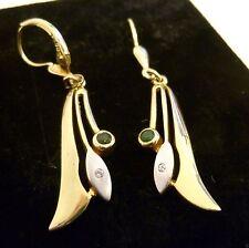 Echtschmuck mit Diamant und Smaragd-Schliffform für Damen