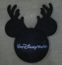 DISNEY WDW MICKEY WITH REINDEER ANTLERS CHRISTMAS ANTENNA BALL TOPPER - NEW