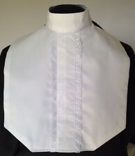 English Hunt Seat Ratcatcher White Lace Front Show Bib Dickie