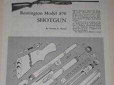 REMINGTON MODEL 870 SHOTGUN EXPLODED VIEW