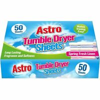 50 x Spring Fresh Linen Tumble Dryer Sheets Scented Conditioned Air Freshness