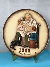 1980 Norman Rockwell Annual Plates The Toy Maker