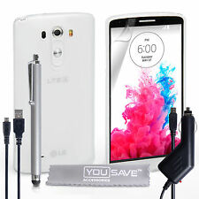 Yousave Accessories For The Lg G3 Clear Silicone Gel Case Cover Screen Film Uk