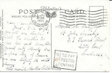 POSTAGE DUE POST CARD;GB 30/6/1955 POSTED UNPAID SUNDERLAND TO LONDON.