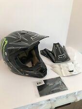 Fox Racing V3 Pilot Carbon Fiber Pro Ricky Carmichael Replica Monster Helmet Med