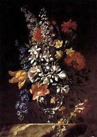 Oil painting Francisco Perez Sierra - vase of flowers nice still life no framed