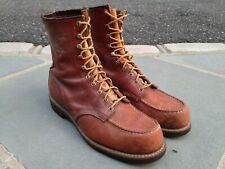 Vintage Usa Made Red Wing #29152 Moc Toe Work Boots w/ Crepe Sole Size 11Ee