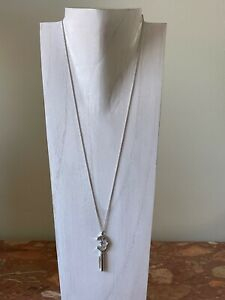 Charriol Sterling Silver Necklace with Key Shape Pendant