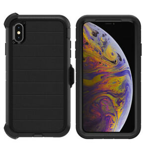 For Apple iPhone Xs Max Case Cover Shockproof Dirtproof Series with Belt Clip