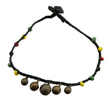 Brazilian Bracelet for ankle black-bells beads rasta-20822-Fs8A