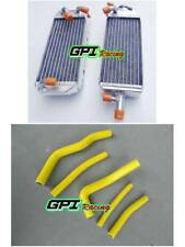 Fits Suzuki RM125 RM 125 T/V 1996 1997 96 97 Aluminum  Radiator + YELLOW hose