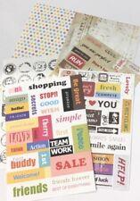 Set of 6PCS - Paper Sticker Scrapbooking Traveler Journal DIY Decor