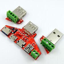 JUWEI Type-c Micro USB MiNi USB Cable Adapter Converter Board USB Tester Ammeter